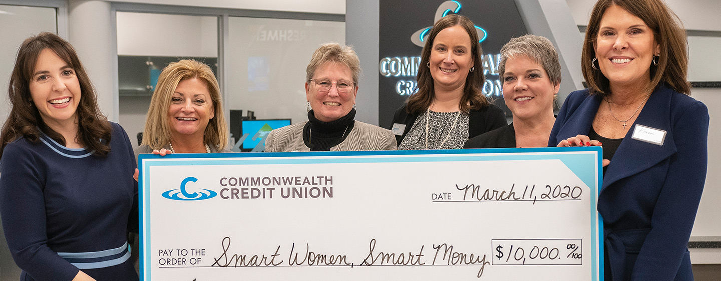 Big Check presentation to Smart Women, Smart Money.
